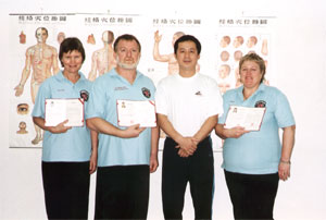 Allan and Senior Instructors with Master Hui Xiao Fei