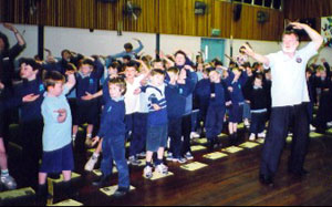 Allan leading students through Chi Kung exercises