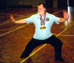 Allan with Gold Medals
